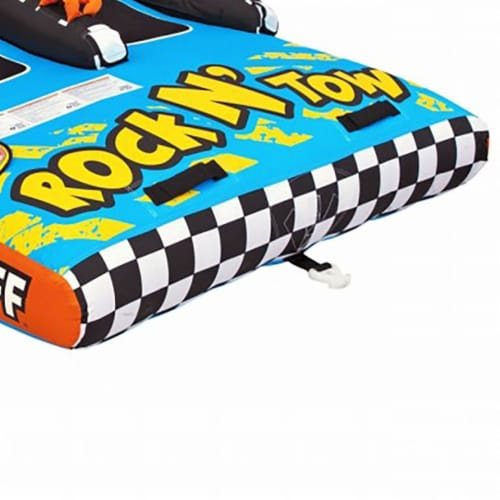 Sportsstuff Inflatable Rock N' Tow 2 Sitting Double Rider Towable Boat Lake Tube Perspective: left