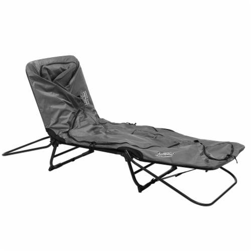 Kamp-Rite Original 1 Person Tent Cot Folding Bed Bundle w/ Valuables Storage Bag Perspective: left