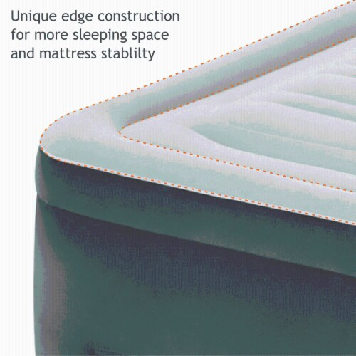 Intex Comfort High Rise Dura Beam Air Mattress w/ Built-In Pump, Queen (2 Pack) Perspective: left