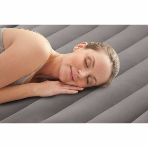 Intex Deluxe Pillow Rest Inflatable Air Bed with Built In Pump, King (4 Pack) Perspective: left