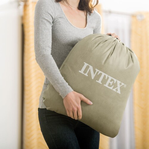 Intex Kids Inflatable Travel Air Mattress w/ Hand Pump & Air Pump w/ 3 Nozzles Perspective: left