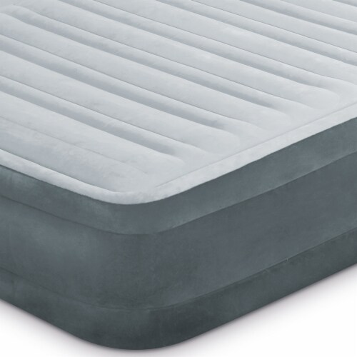 Intex Dura Beam Plus Series Mid Rise Queen Air Bed with Built In Pump (3 pack) Perspective: left