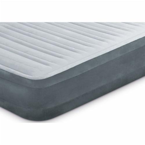Intex Comfort Plush Dura Beam Plus Series Mid Rise Airbed w/ Pump, Twin (2 Pack) Perspective: left