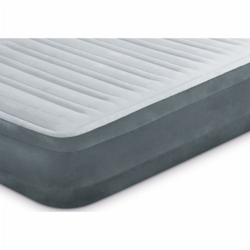 Intex PVC Dura-Beam Series Mid Rise Airbed with Built In Electric Pump, Twin (8) Perspective: left