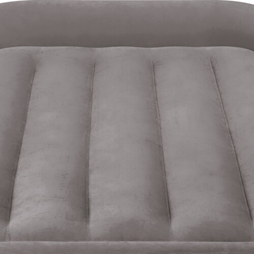 Intex Standard Deluxe Pillow Rest Raised Airbed w/ Built in Pump, Twin (2 Pack) Perspective: left