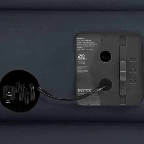 Intex QueenDura Beam Essential Air Mattress w/ Built-in Electric Pump (5 Pack) Perspective: left