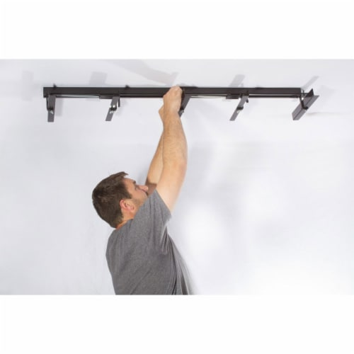 Up-Rite 10 Foot Adjustable Overhead Garage Ceiling Storage Tote Organizer Rack Perspective: left