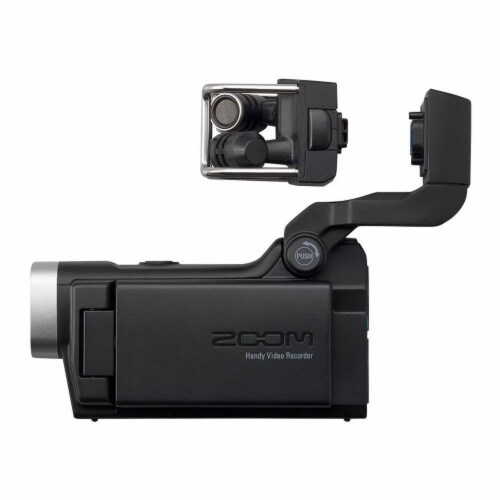 Zoom F1 Digital Audio Recorder with Lavalier Mic & Q8 Video Professional Camera Perspective: left