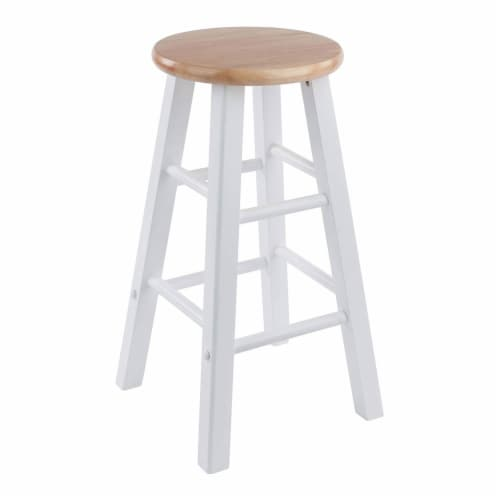 Winsome Element 23.86 Inch Solid Wood Counter Bar Stool Set, White (4 Pack) Perspective: left