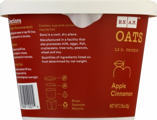RX A.M. Oats Apple Cinnamon Oat Cup Perspective: left