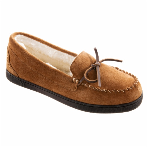 Isotoner® Women's Genuine Suede Moccasin - Brown Perspective: left