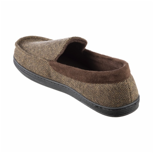 Isotoner­® Herringbone Logan Moccasin Men's Slippers Perspective: left