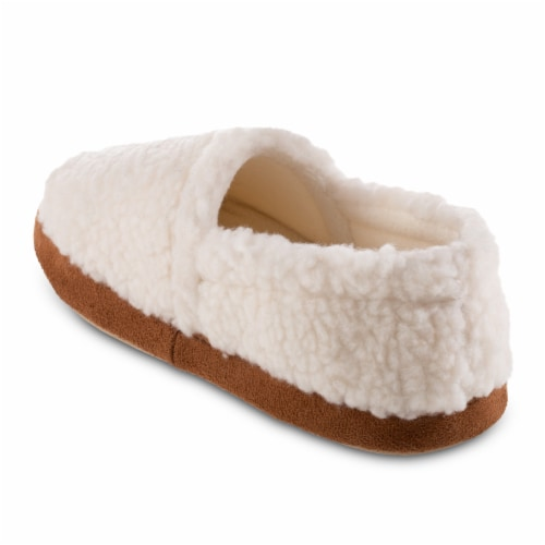 Isotoner® Happy Sheep Berber A-line Slippers - White Perspective: left