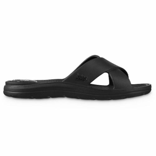Totes Ara Cross Slide Women's Sandals - Black Perspective: left