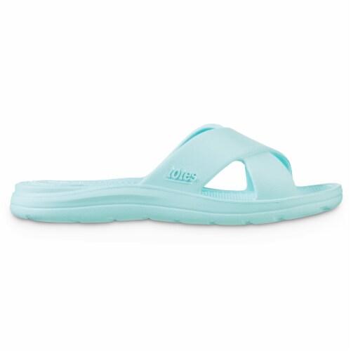 Totes Ara Cross Slide Women's Sandals - Splash Perspective: left