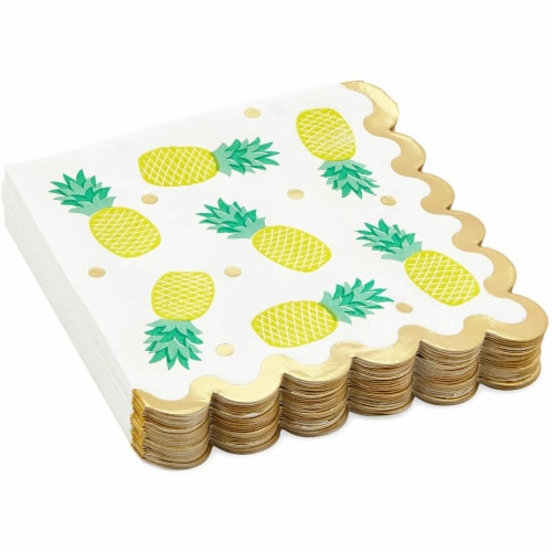 Fruit Cocktail Napkins, Summer Party Decorations (4 Designs, 5 x 5 In, 100 Pack) Perspective: left