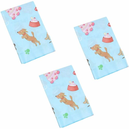 Blue Panda Puppy Dog Themed Party Table Covers (54 x 108 in, Rectangle, 3 Pack) Perspective: left