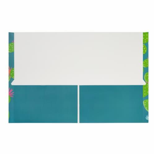 Succulent 2-Pocket Folders for School, Letter Size, 6 Cactus Designs (12 Pack) Perspective: left
