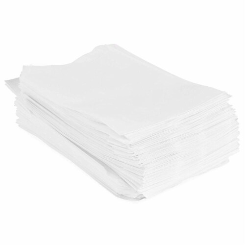 Wax Paper Goodie Snack Bags (4.75 x 6.5 in, 200 Pack, White) Perspective: left