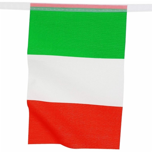 Juvale Italian Flag Banners (100 ft, 80 Flags) Perspective: left