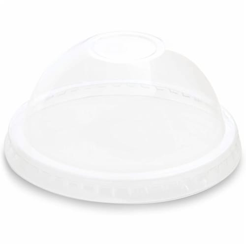 Clear Plastic Ice Cream and Yogurt Cups with Dome Lids (5 oz, 50 Pack) Perspective: left