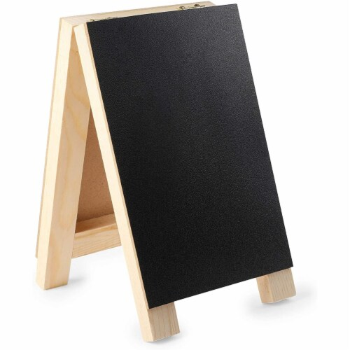 Chalkboard Easel Stand with Liquid Chalk Marker and White Chalk (2 Sets) Perspective: left