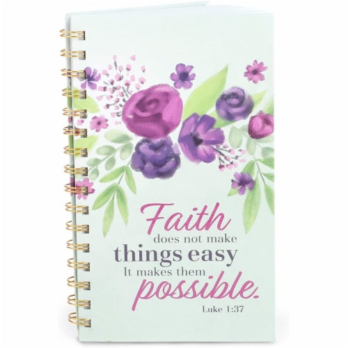 Spiral Notebook with Scripture (5 x 8.5 in, 2 Pack) Perspective: left