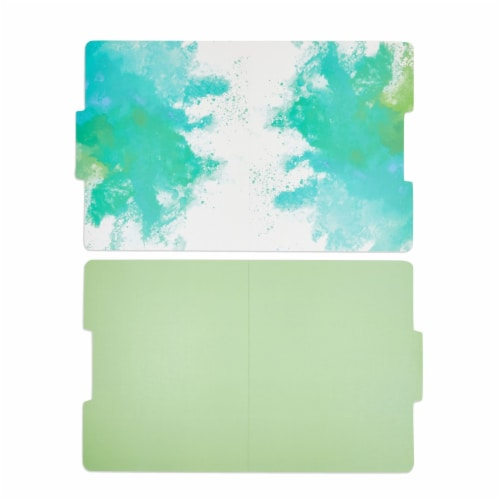 Rainbow Decorative File Folders, 1/3 Cut Tab, Letter Size, Watercolor (12 Pack) Perspective: left