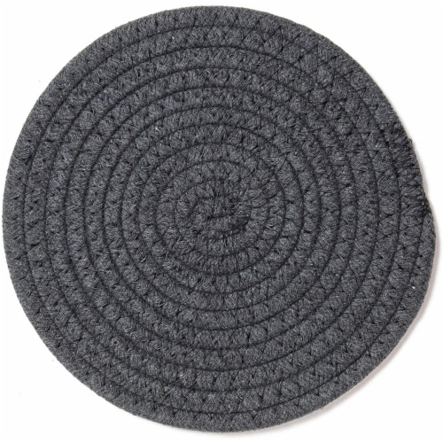 Cotton Trivet Potholder Set, Round Coasters in 4 Colors (7 Inches, 4 Pack) Perspective: left