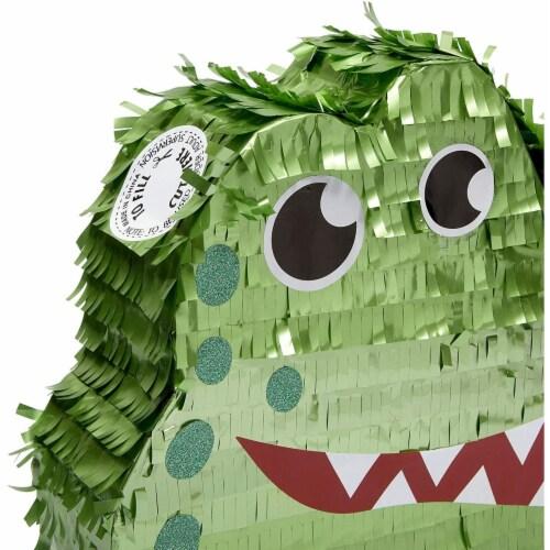 Small Alligator Piñata for Kids Safari Birthday Party (16.5 x 11.5 x 3 Inches) Perspective: left