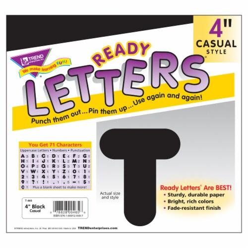 Trend Enterprises Casual Uppercase Ready Letters - Black Perspective: left