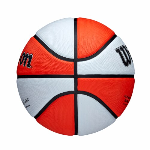 Wilson Sporting Goods WNBA Authentic Outdoor Official Women's Size Basketball - Orange/White Perspective: left