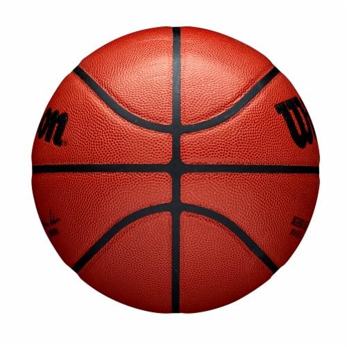 Wilson Sporting Goods NBA Authentic Indoor Basketball - Orange/Black Perspective: left
