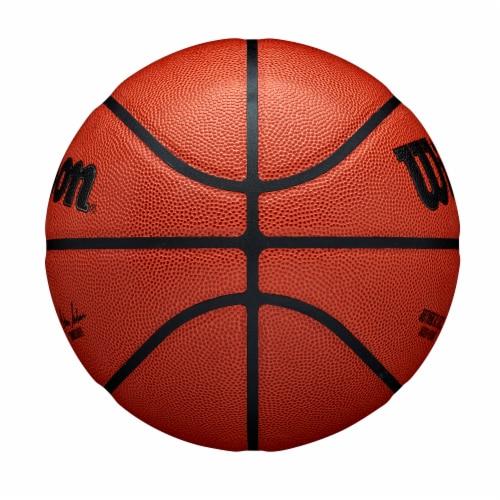 Wilson Sporting Goods NBA Authentic Indoor/Outdoor Official Basketball - Orange/Black Perspective: left