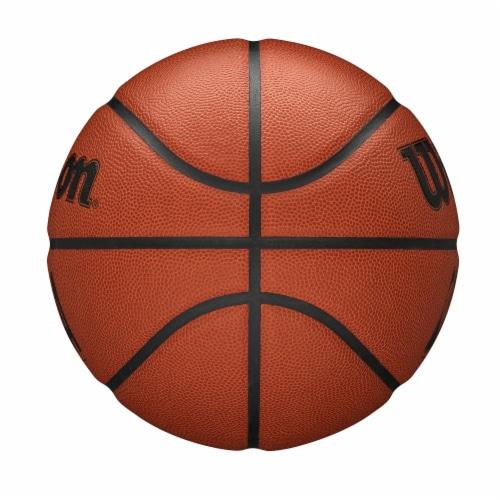 Wilson Sporting Goods NBA Forge Intermediate Size Basketball - Orange/Black Perspective: left