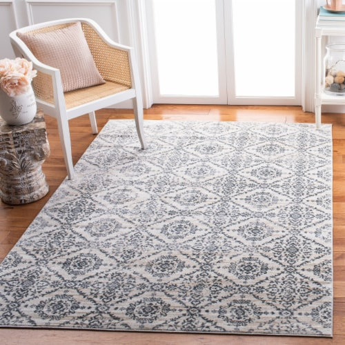Martha Stewart Collection Isabella Accent Rug - Cream/Gray Perspective: left