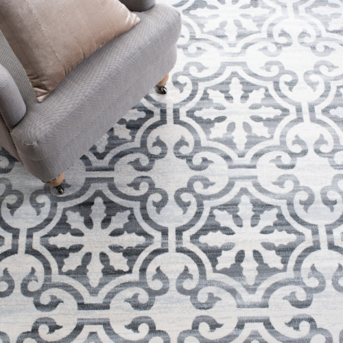 Safavieh Martha Stewart Collection Isabella Accent Rug - Gray/Ivory Perspective: left