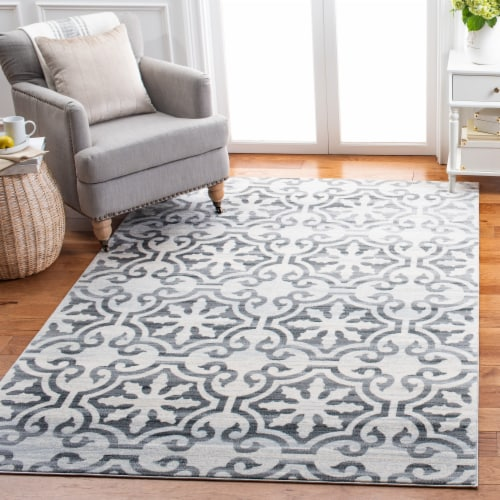 Safavieh Martha Stewart Collection Isabella Area Rug - Gray/Ivory Perspective: left