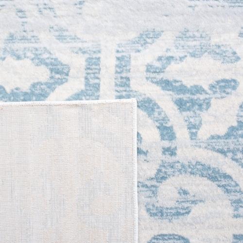Martha Stewart Isabella Rug - Turquoise/Ivory Perspective: left