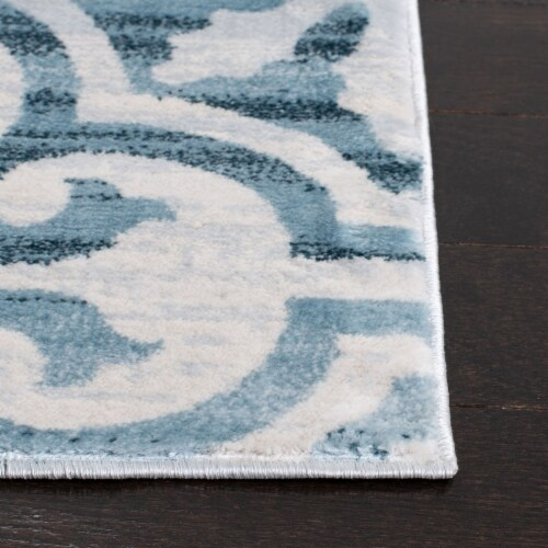 Martha Stewart Collection Isabella Area Rug - Navy/Ivory Perspective: left