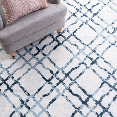 Safavieh Martha Stewart Collection Isabella Accent Rug - Ivory/Turquoise Perspective: left