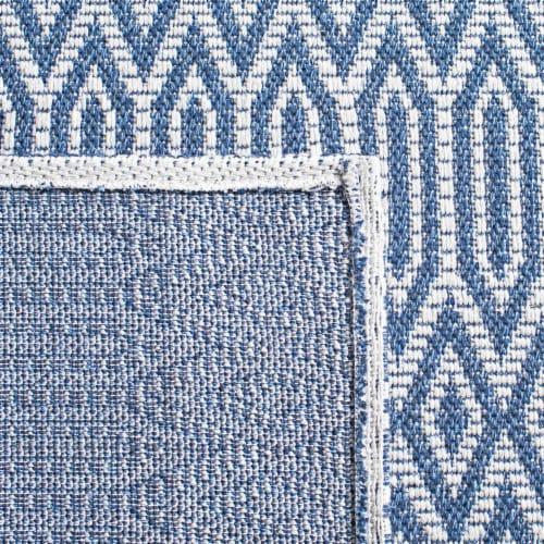 Martha Stewart Cotton Area Rug - Blue/Gray Perspective: left