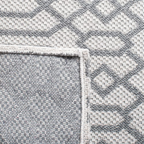 Martha Stewart Cotton Area Rug - Silver/Gray Perspective: left
