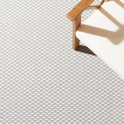 Safavieh Martha Stewart Courtyard Indoor Outdoor Area Rug - Ivory/Charcoal Perspective: left