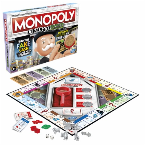 Hasbro Gaming Monopoly Crooked Cash Board Game Perspective: left