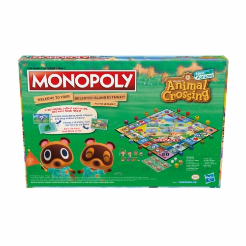 Monopoly Animal Crossing New Horizons Board Game Perspective: left