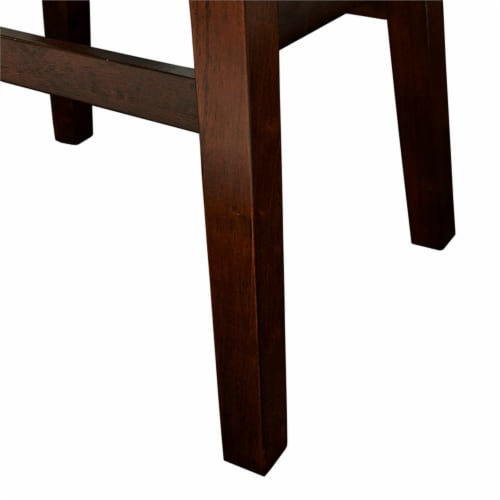 Home Square 2 Piece Wood Cow Print Bar Stool Set in Brown Perspective: left