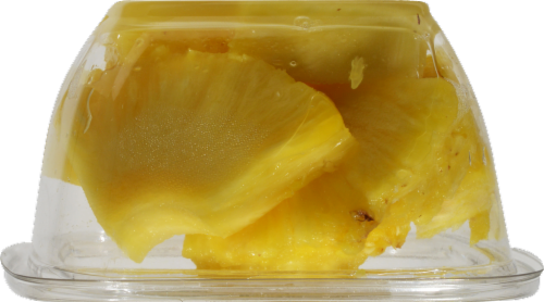 In-Store Cut Pineapple Chunks Small Cup Perspective: left