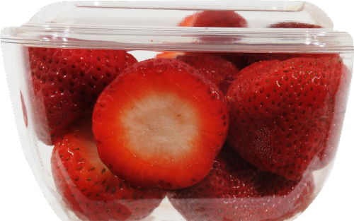 In-Store Cut Strawberry Small Cup Perspective: left