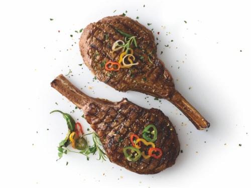 Tomahawk Beef Ribeye Steak Perspective: left